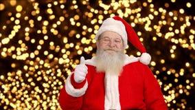 Счастливое Санта, большие пальцы руки вверх акции видеоматериалы
