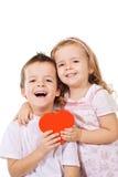 счастливое сердце ягнится красный цвет стоковое изображение rf