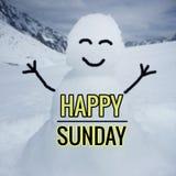 Счастливое слово воскресенья Стоковое Изображение