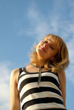 счастливое солнечное Стоковые Фото