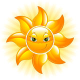 счастливое солнце Стоковое Изображение RF