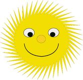 Счастливое солнце Стоковые Изображения