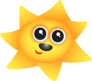 счастливое солнце Стоковое Фото