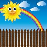 счастливое солнце Стоковое Изображение