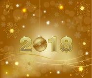Счастливое украшение 2018 предпосылки Нового Года Стоковые Фотографии RF