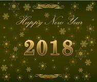 Счастливое украшение 2018 предпосылки Нового Года Стоковое фото RF