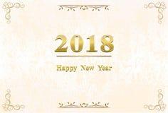 Счастливое украшение 2018 предпосылки Нового Года Стоковые Изображения