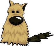 Счастливое усаживание щенка шаржа, портрет милого друга собаки маленькой собаки также вектор иллюстрации притяжки corel стоковые фотографии rf