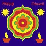 Счастливое Diwali желает поздравительную открытку стоковое фото rf