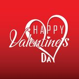 Счастливое Valentine' график дня s Стоковые Фото