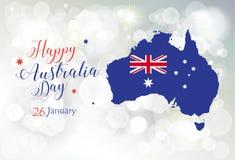 Счастливое wallapper приветствию дня Австралии Стоковое Изображение