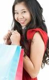 Счастливо после ходить по магазинам Стоковая Фотография RF
