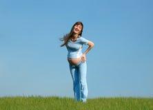 счастливые беременные женщины Стоковая Фотография RF