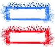 Счастливые бирки праздников Стоковые Фото