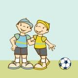 счастливые близнецы hug Стоковое Фото