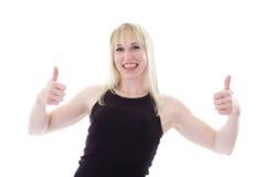 счастливые большие пальцы руки вверх Стоковое Изображение RF