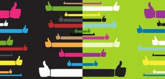 счастливые большие пальцы руки вверх Стоковые Фото