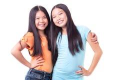 Счастливые девушки Стоковое Фото