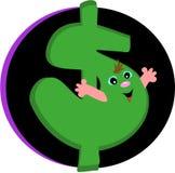 счастливые деньги Стоковая Фотография