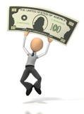счастливые деньги Стоковая Фотография RF