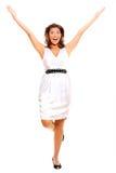 счастливые детеныши женщины стоковое фото rf