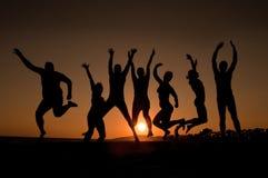 счастливые детеныши людей Стоковые Изображения