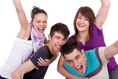 счастливые детеныши людей Стоковая Фотография