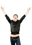 счастливые детеныши человека yeah Стоковое фото RF