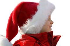 счастливые детеныши santa стоковые изображения