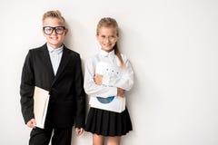 Счастливые дети выражают доверие Стоковые Изображения RF