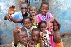 Счастливые дети в Аккра, Гане стоковая фотография
