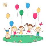 Счастливые дети шаржа Стоковые Фото