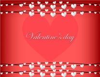 Счастливые дизайн и иллюстрация карточки предпосылки вектора дня валентинки Стоковое Фото