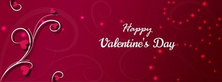 Счастливые дизайн и иллюстрация карточки предпосылки вектора дня валентинки Стоковые Фотографии RF