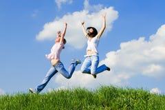 счастливые женщины молодые Стоковое Изображение