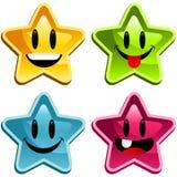 счастливые звезды Стоковые Изображения RF
