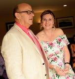 Счастливые зрелые пары получая пожененный стоковая фотография rf