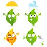 счастливые листья Стоковые Фотографии RF