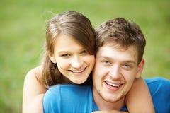 счастливые любовники стоковое фото rf