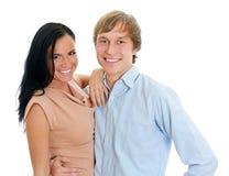 Счастливые любящие пары. Стоковая Фотография