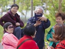 Счастливые люди в Москве Стоковое Изображение