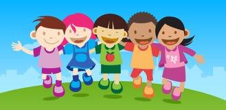 счастливые малыши Стоковое фото RF