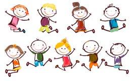 счастливые малыши Стоковые Изображения