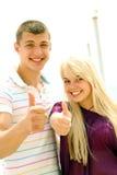 Счастливые молодые пары Стоковое фото RF