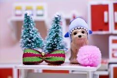 Счастливые Новый Год и с Рождеством Христовым с животными Стоковая Фотография