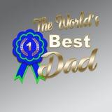 Счастливые обои дня отцов отображают с синью кокарды иллюстрация вектора