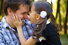 Счастливые отец и дочь Стоковая Фотография RF