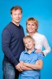Счастливые отец, мать и сынок семьи Стоковая Фотография RF
