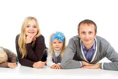 Счастливые папа и дочь мати стоковое изображение rf