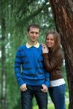 Счастливые пары в парке Стоковое Изображение RF